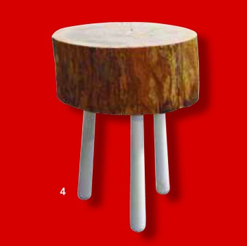 Tabouret tronc clap 2 d co for Absolument maison bhv
